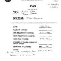Faxes, Articles, and Reports [1]
