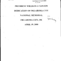 Oklahoma Nat'l Mem. 4/19/00