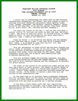 "Presidential remarks concerning ""The Colorado Wilderness Act"""